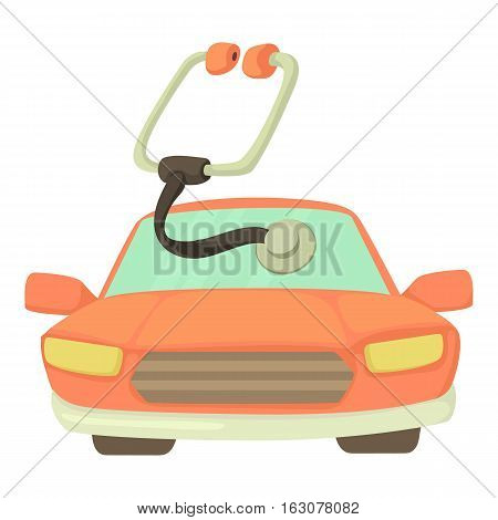 Car treatment icon. Cartoon illustration of car treatment vector icon for web