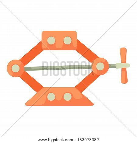 Jack screw icon. Cartoon illustration of jack screw vector icon for web