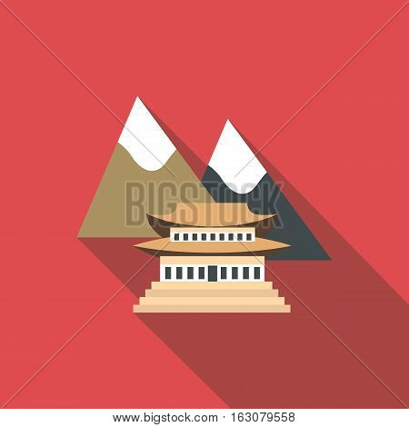Pagoda icon. Flat illustration of pagoda vector icon for web