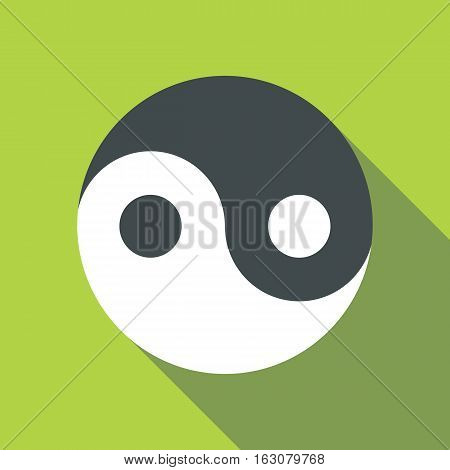 Ying yang icon. Flat illustration of ying yang vector icon for web