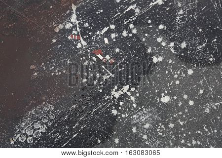 White Paint On Roofing Material