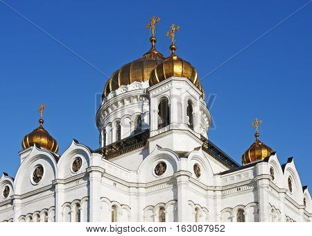 dome of the Cathedral of Christ the Savior. Moscow. Russia