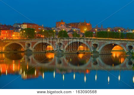 Night Toulouse In Summer