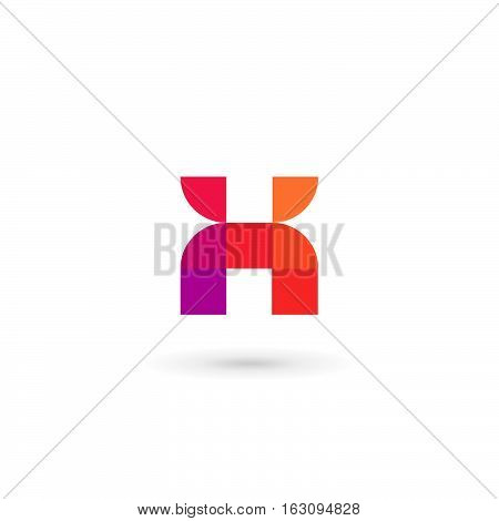 Letter X Number 10 Mosaic Logo Icon Design Template Elements