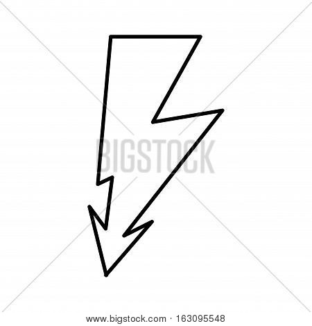 ray volt sign icon vector illustration design