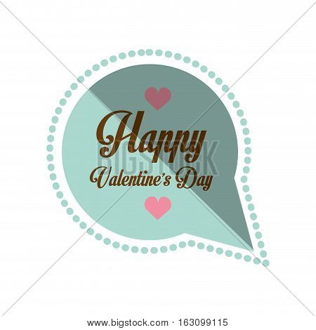 happy valentines day card bubble hearts shadow vector illustration eps 10