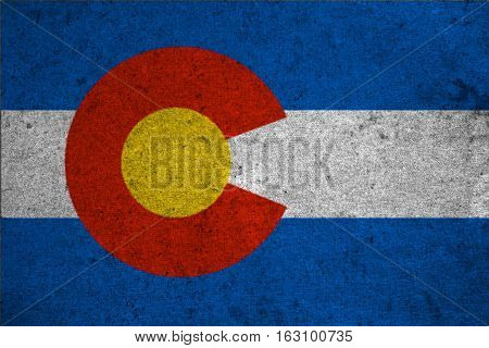 Graphic American State Grunge Flag Of Colorado