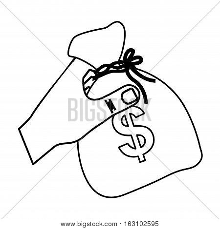 Bag of money icon vector illustration graphic design