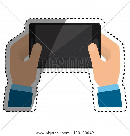 Mobile tablet technology icon vector illustration graphic design