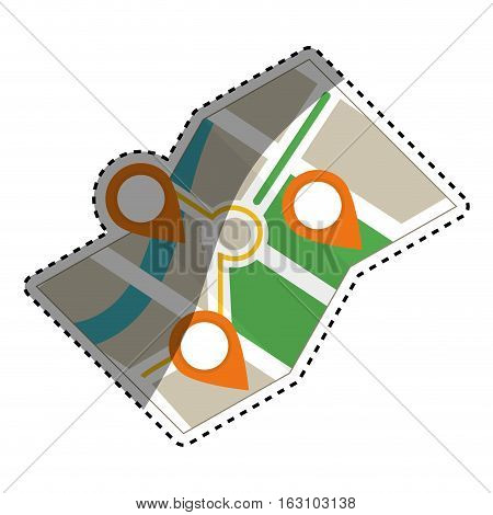 City location map icon vector illustration graphic design