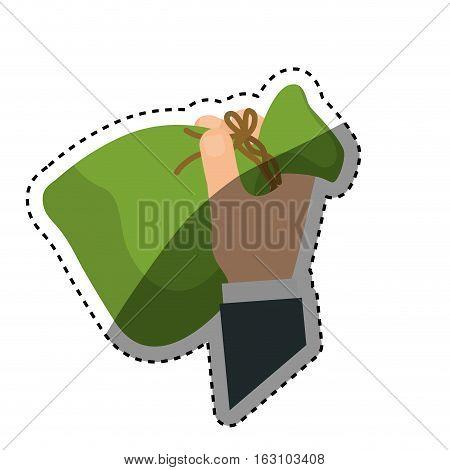 Bag of money icon vector illustration graphic design