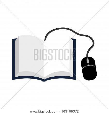 Ebook online education icon vector illustration graphic design