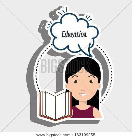 student woman eduaction speech vector illustration eps 10