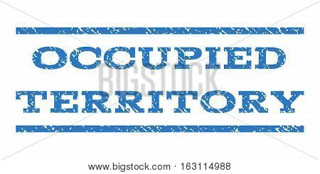 Occupied Territory watermark stamp. Text caption between horizontal parallel lines with grunge design style. Rubber seal stamp with dust texture.