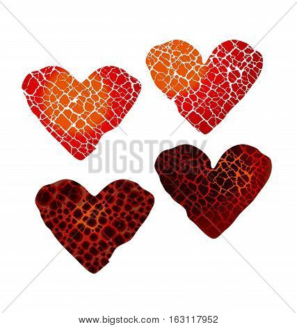 Abstract Broken Heart Vector Photo Free Trial Bigstock