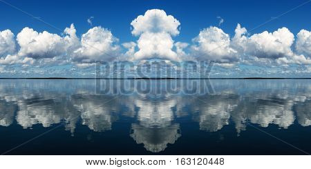 Multiple clouds with sea water reflactions. Australia East Coast.