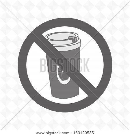 coffee fast food unhealth prohibited vector illustration eps 10