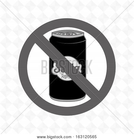 soda fast food unhealth prohibited vector illustration eps 10
