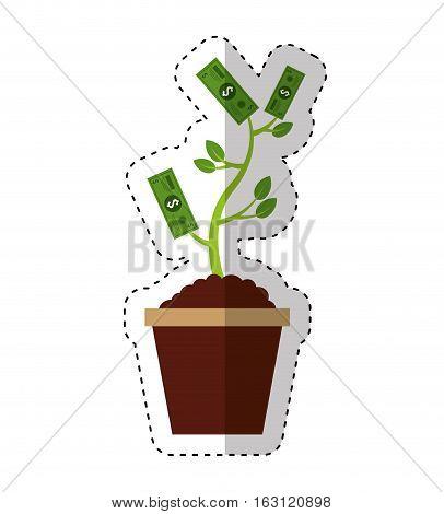 bills plant isolated icon vector illustration design