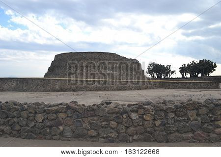 Mesoamerican archaeological site Sultepec-Tecoaque known for its circular
