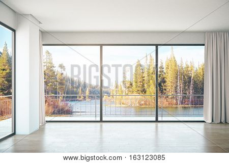 Unfurnished Interior With Landscape View