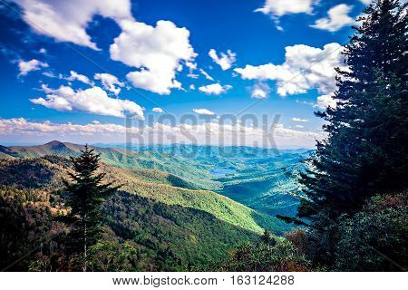North Carolina Great Smoky Mountain Scenic Landscape