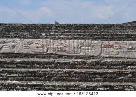 Ruins at the pre-Columbian archeological site of Cholula in the state of Puebla, Mexico