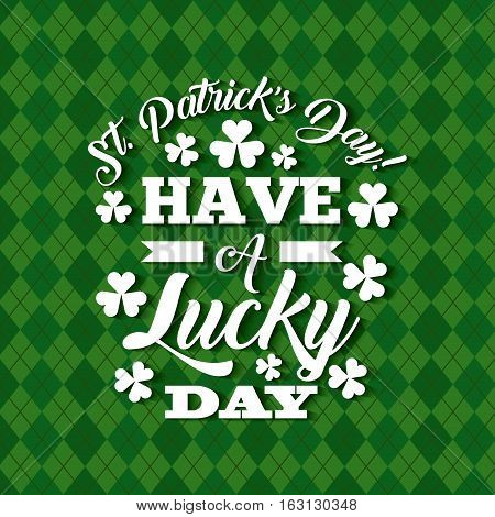 Saint Patrick's Day card with decorative clovers. colorful design. vector illustration