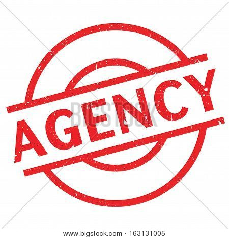 Agency stamp. Grunge design with dust scratches. Effects can be easily removed for a clean, crisp look. Color is easily changed.