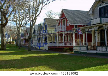 Gingerbread Houses of Martha's Vineyard.  These historical camp-meeting homes charm the streets of Martha's vineyard