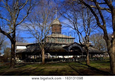 Outdoor Campmeeting structure for Christian Community Martha's Vineyard Massachusetts