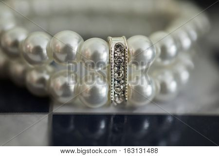 wedding jewelry white bracelet of bride wedding ceremony the bride's morning preparing for the wedding