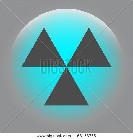 Radioactive Danger Sign. Vector Icon