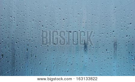 blue water from rain drop texture background