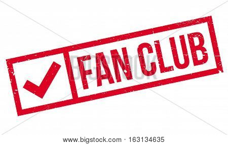 Fan club stamp. Grunge design with dust scratches. Effects can be easily removed for a clean, crisp look. Color is easily changed.