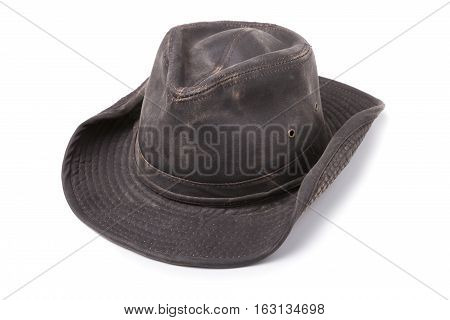 Dark Brown Cowboy Hat isolated on White Background