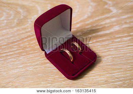 wedding bands wedding rings in the red box wedding jewelry wedding preparation