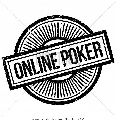 Online poker stamp. Grunge design with dust scratches. Effects can be easily removed for a clean, crisp look. Color is easily changed.