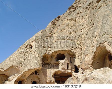 Volcanic Cliffs And Rock Formations At Cappadocia