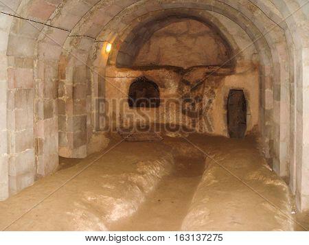 Derinkuyu Cave City Located In Cappadocia, Turkey