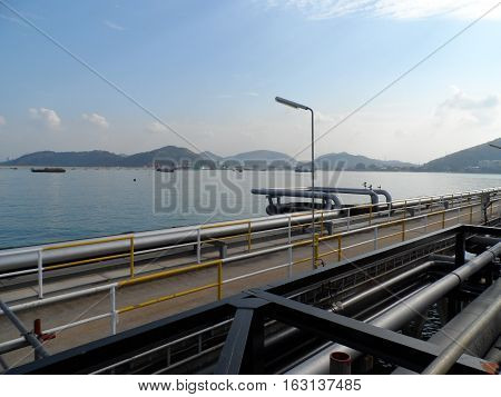 Estuary Thai, Thai Oil Refinery, Pipe Rack