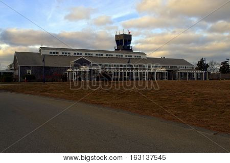 A rural small  airport located on Martha's Vineyard Airport
