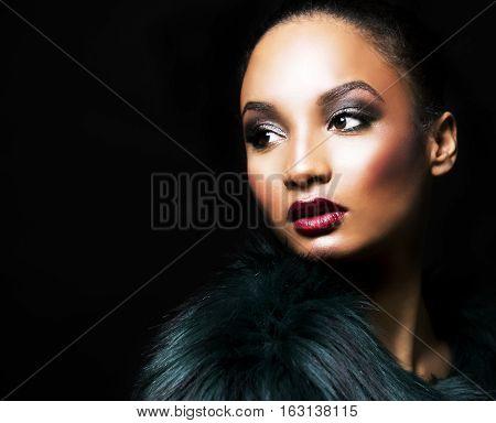 Beautiful Winter Glamour Woman