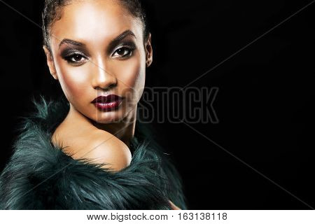 Beautiful Winter Glamour Woman