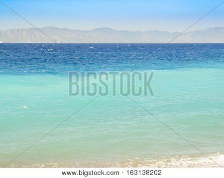The Pebble Beach In Rhodes Island In Greece