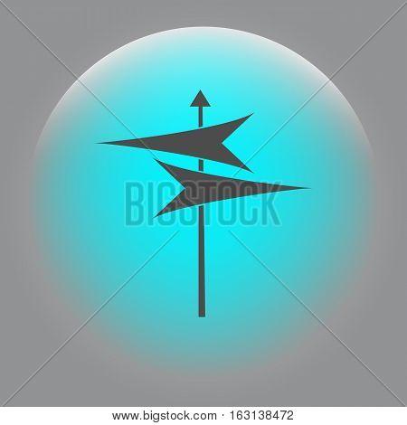 Signpost Icon Vector Illustration