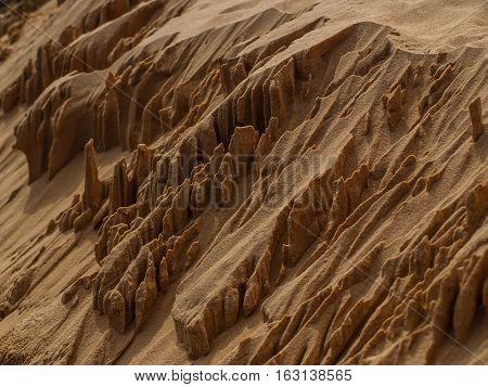 little white sand mounds, dunes desert Vietnam