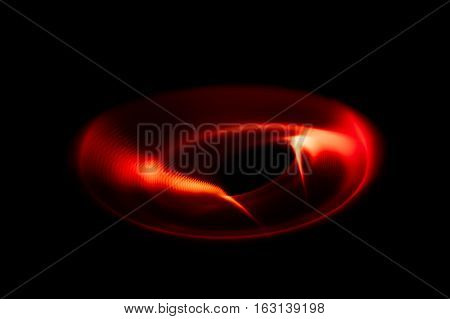 Sound waves in the visible red color in the dark