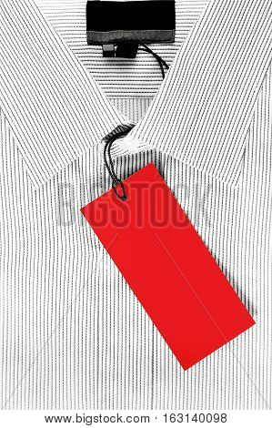Formal striped shirt with red sale tag