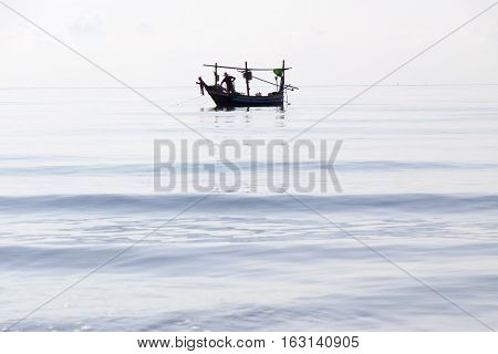 Fishing boats in the Gulf of Thailand
